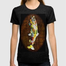 Fish  Womens Fitted Tee Tri-Black SMALL