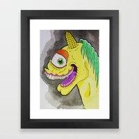 Unicorniclops Framed Art Print