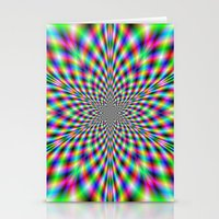 Neon Psychedelic Stationery Cards