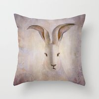 Madame Rabbit Throw Pillow