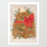 Merry Christmas From Gin… Art Print
