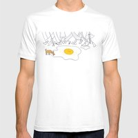 Sunny Side Up Mens Fitted Tee White SMALL