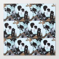Walking Bears Pattern Canvas Print
