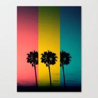 Vintage Palm Tree Canvas Print