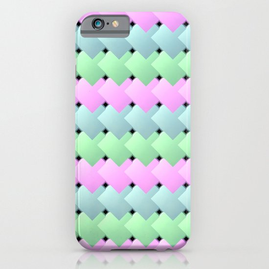 Overlapping Diagonal Square Pattern iPhone & iPod Case