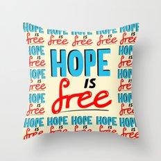 Free Hope Throw Pillow