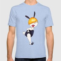 Black bunny Mens Fitted Tee Tri-Blue SMALL