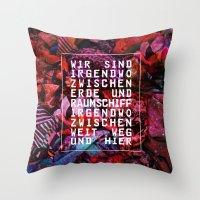 GLÜCK & BENZIN Throw Pillow