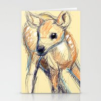 Wobbly Deer Stationery Cards
