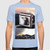 Idle Hours Mens Fitted Tee Tri-Blue SMALL