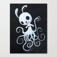bunnnypus in the dark Canvas Print