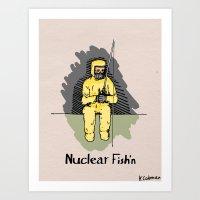 Nuclear Fish'n Art Print