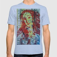 VENUS IN DOTS AND SHIRT Mens Fitted Tee Athletic Blue SMALL
