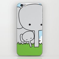 Mommy Elephant iPhone & iPod Skin
