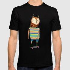 Deer, deer art, deer print, deer illustration, skateboard art, skateboarder,  Black Mens Fitted Tee SMALL