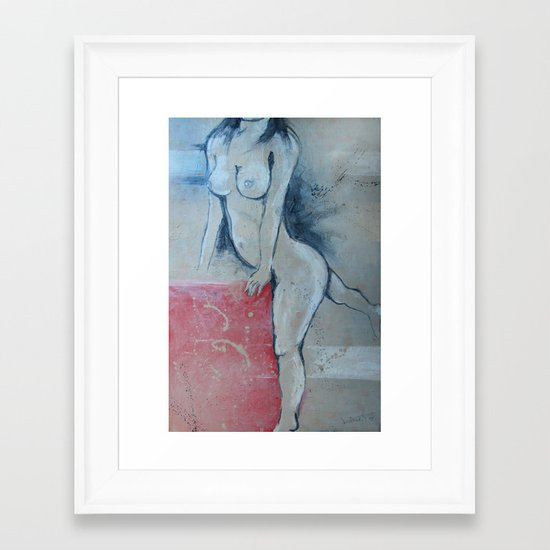 zara b Framed Art Print