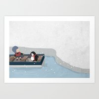 Reaching The South Pole Art Print