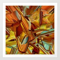 Shades Of Orange Art Print