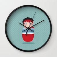 KOKESHI-PARISIAN Wall Clock
