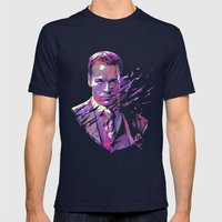 Ari Gold // OUT/CAST Mens Fitted Tee Navy SMALL