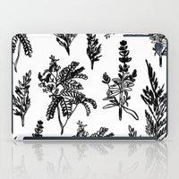 fleur noir iPad Case
