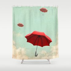 rising into the blue Shower Curtain