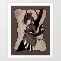 Black Silk Art Print
