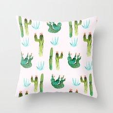 A Couple of Cacti Throw Pillow