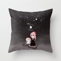 Black Xmas: A Merry Gothic Christmas Throw Pillow