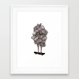 Framed Art Print - all about learning - franciscomffonseca