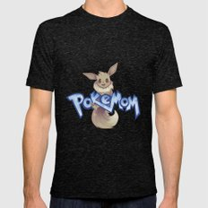 Pokemom Mens Fitted Tee Tri-Black SMALL