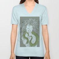 Snake and Sprite: Green Unisex V-Neck