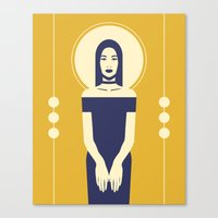 Phaedra Yellow Canvas Print
