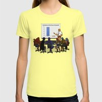 I HAVE THE POWERPOINT! Womens Fitted Tee Lemon SMALL