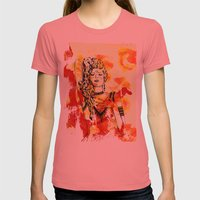Tribal Beauty 2 Womens Fitted Tee Pomegranate SMALL