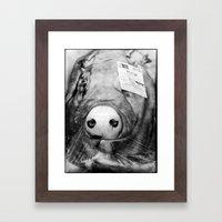 Pig Head Framed Art Print