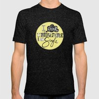 I think therefore I am... single II Mens Fitted Tee Tri-Black SMALL