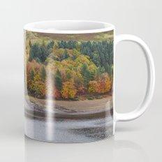Autumnal trees at Derwent Reservoir. Derbyshire, UK. Mug