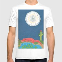 GatorMoon Mens Fitted Tee White SMALL