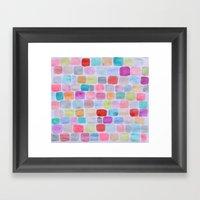 Palette Squares Framed Art Print