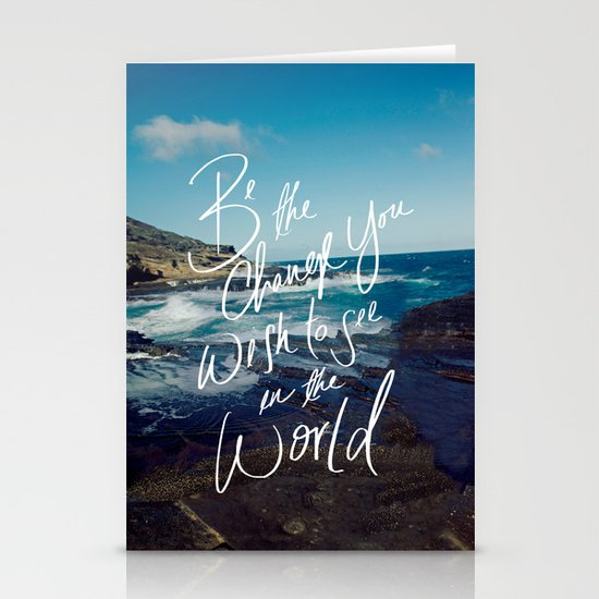 Be the Change Stationery Card