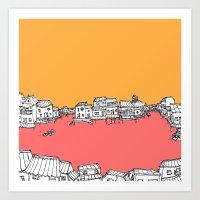 The Water Village Art Print