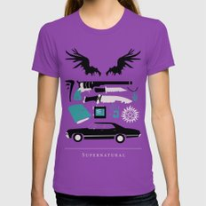 Supernatural Womens Fitted Tee Ultraviolet SMALL