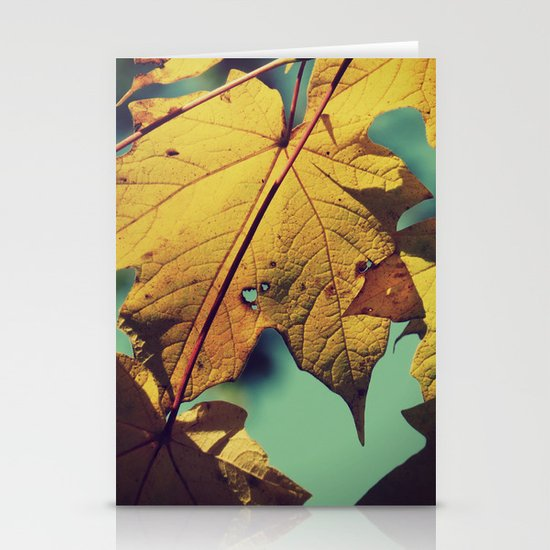 Tattered Leaves Stationery Card