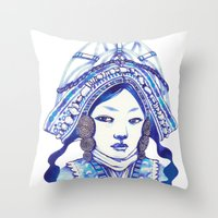 Baby Blue #3 Throw Pillow
