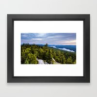 Sunrise From The Fire To… Framed Art Print
