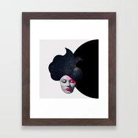 Souffle de Cheveux Framed Art Print