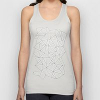 Abstract New Grey Unisex Tank Top