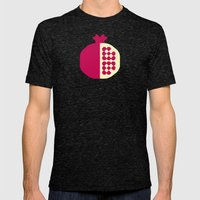 Fruit: Pomegranate Mens Fitted Tee Tri-Black SMALL