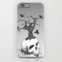 iPhone & iPod Case featuring Skull and Tree by Jaina Hill-Rodriguez